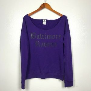 🍋Victorias Secret NFL Baltimore Ravens Sweatshirt